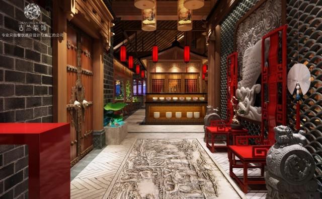 石家庄餐厅设计师为了避免装饰物的氛围喧宾夺主,增添了很多绿植,随处可见的绿植把空间的亲切感不留余地的展示出来了。