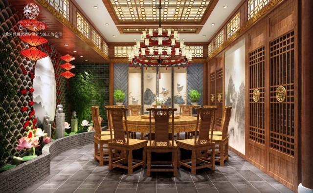 在包间设计上充分考虑其独特新颖性,空间以原木、浅灰、翠绿三色为主要色调,并且与传统元素有机地结合在一起。并通过动静线与灯光布局的交错,提高食客的用餐舒适性。