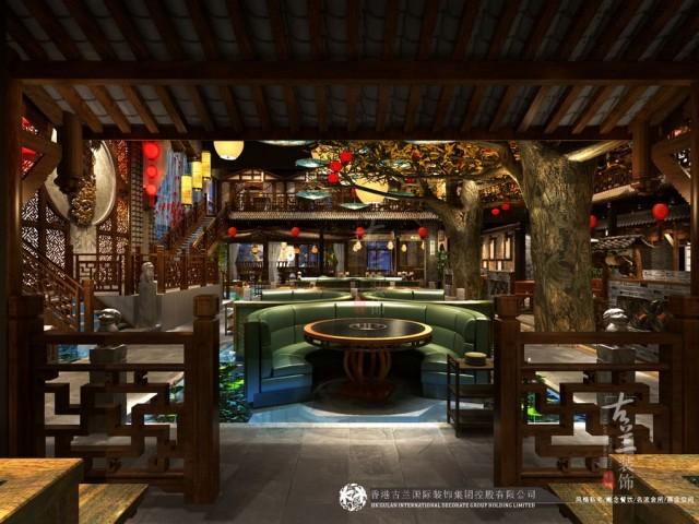 石家庄传统中式火锅店设计装修公司-新疆唐燚品鲜菜火锅店设计公司