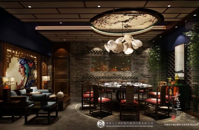 石家庄传统中式火锅店设计装修公司-新疆唐燚品鲜菜火锅店设计