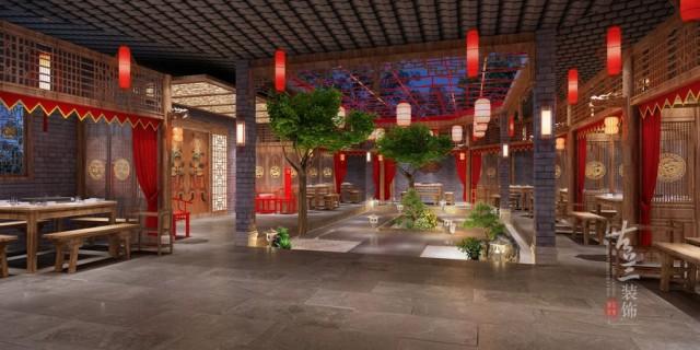 安徽合肥餐厅设计装修公司之小龙坎连锁火锅店装修效果图