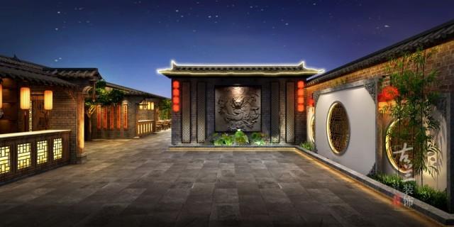 唐山餐厅设计装修公司-小龙坎老火锅店装修效果图