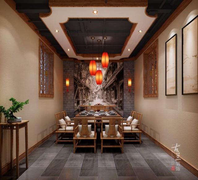 虽然整体都是传统火锅店的装饰,但是却也透露出一种小清新的文艺感。唐山火锅店设计师还增加了一些不对称的隔断,使空间整体布局简单通透,动线的设计流畅舒适,又丰富了层次。