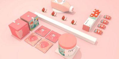 简约清新的水果食品品牌包装和Logo设计(下)