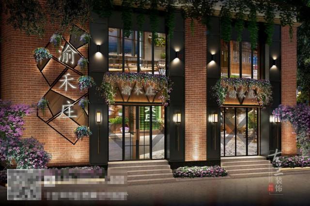洛阳火锅店设计装修公司-渝禾庄工业风火锅店装修效果图