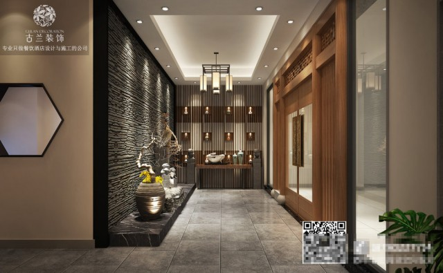 成都子然茶社_太原餐厅设计公司_专业茶楼装修效果图