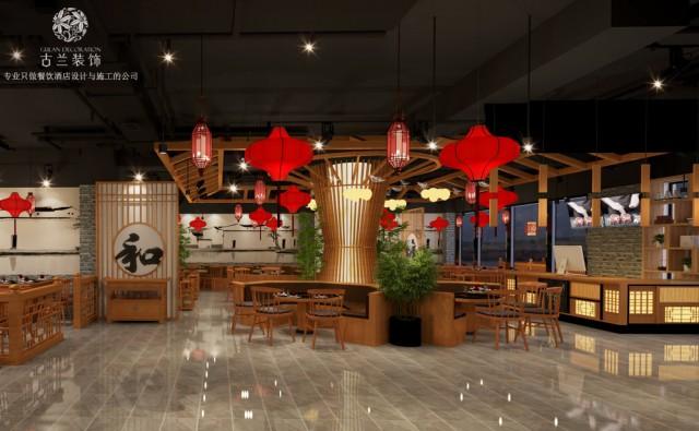 和缘潮汕牛肉养生火锅店-成都养生汤锅店设计|成都火锅店设计公司