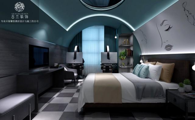 成都亨创电竞酒店-成都电竞酒店设计公司