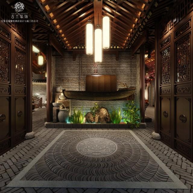火锅店设计:中式、田园、农家结合的空间氛围设计-成都设计