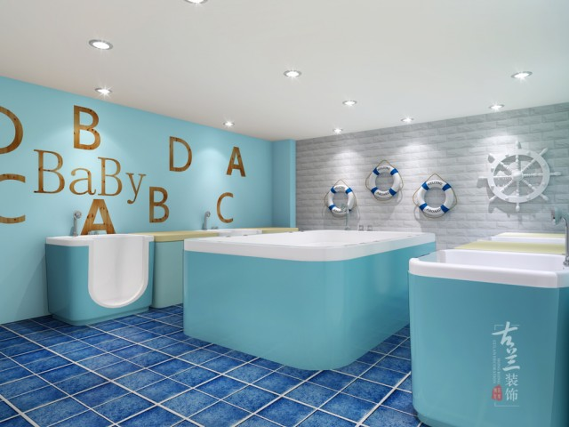 功能合理性,安全性设计,风格效果设计,施工图绘制深化设计-成都儿童游泳馆设计与施工