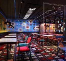 成都中餐厅装修-酒吧工业风干锅餐厅设计