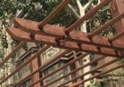 木纹漆|仿木纹漆|公园景区钢结构廊架