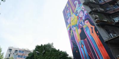 「为爱上色」艺术+最新墙绘《慈》落的相关图片