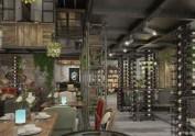 黄石餐厅设计-流苏音乐主题餐厅设计