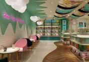 云南鲜花饼小吃店-成都小吃店设计
