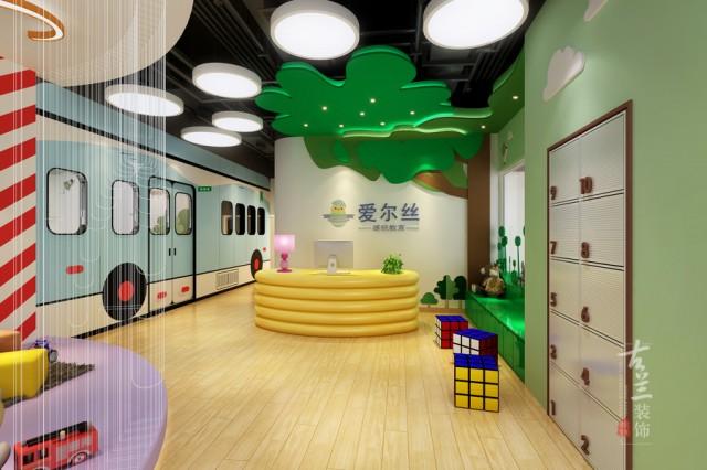 绵阳早教中心设计|绵阳儿童早教培训学校中心装修。 门头亮化设计,室内布局设计,效果图设计,施工图深化设计,工地服务,完工调试,至项目开业。