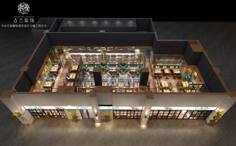 彭州荆都烤鱼店设计 成都烤鱼店装修设计公司
