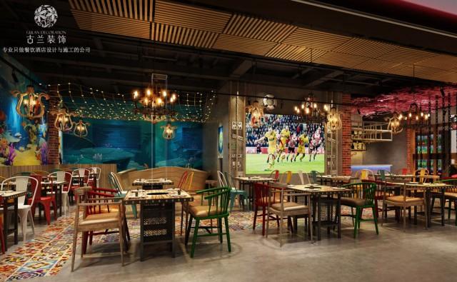 德阳烤鱼店设计|广汉炭香烤鱼店设计|成都烤鱼店设计