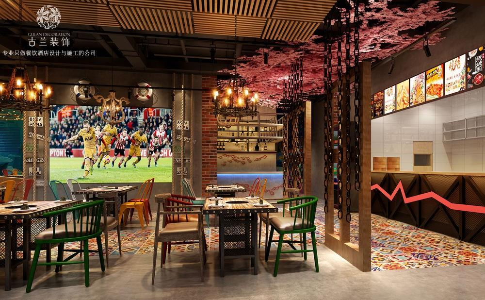 德阳烤鱼店设计 广汉炭香烤鱼店设计 成都烤鱼店设计