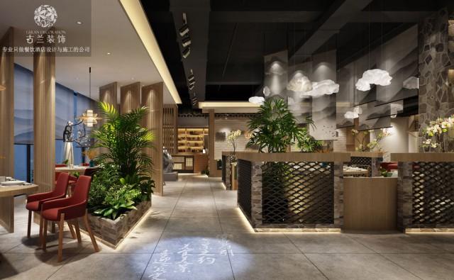 贵阳中餐厅设计|成都中餐厅设计公司【贵阳柴禾小院中餐厅】