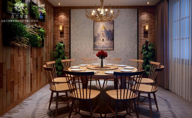 成都中餐厅设计|成都中餐厅装修图【一品红家常菜中餐厅】