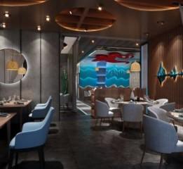 山东海鲜餐厅设计|成都海鲜餐厅设计