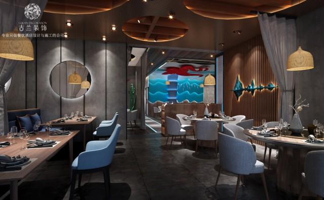 山东海鲜餐厅设计|成都海鲜餐厅设计公司【胶东渔歌海鲜餐厅】