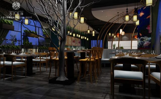 成都华阳海鲜餐厅设计 海鲜餐厅装修图【海魔方海鲜餐厅】