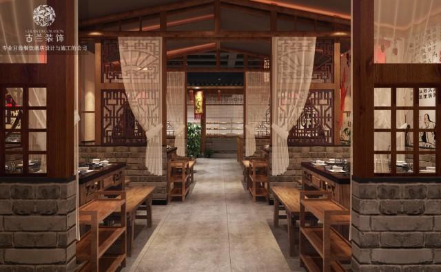 成都中式风格火锅店设计|成都传统老火锅店设计装修图