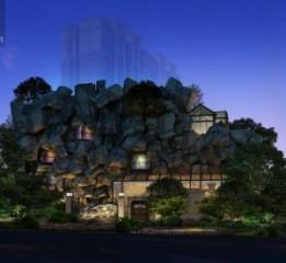 温江主题餐厅设计-温州荒石音乐主题