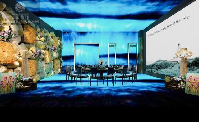 山东临沂餐厅设计公司|带全息投影的网红餐厅设计图