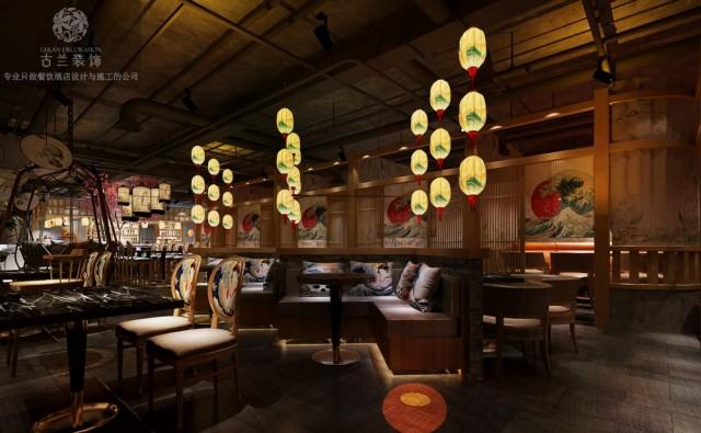 贵阳日式餐厅设计|贵州小港巷日式餐厅设计图