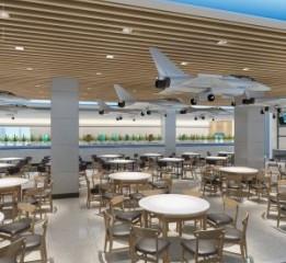 西安航空学院大学食堂设计   南宁餐
