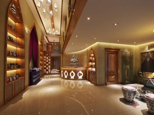成都美容院装修 成都美容院设计 古兰装饰-<泰式美容spa店>