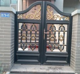 鹿泉别墅大门安装设计@河北石家庄东