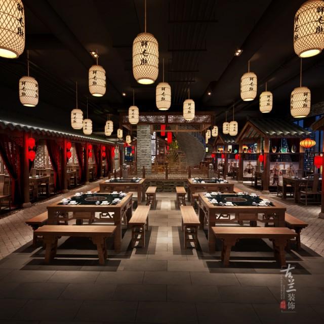 西安中式火锅店设计 成都春熙里1936火锅店设计图