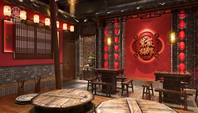 重庆中式复古老火锅店设计