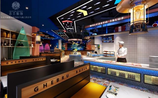 广东汕头海鲜餐厅设计|广州印象大东海餐厅设计