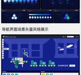 飞行系统导航界面风格展示