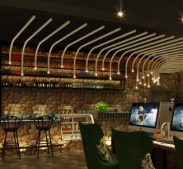 西安网咖设计公司——狼牙网咖