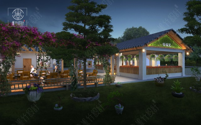 重庆花园餐厅设计