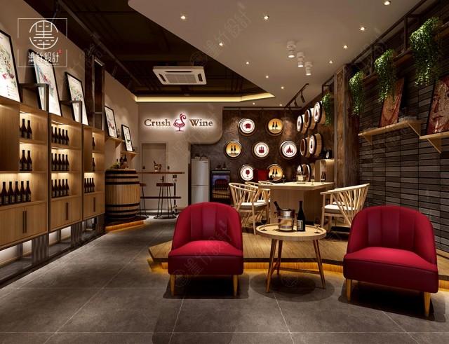 红酒零售店设计