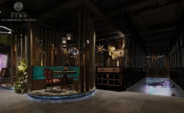 山东泰安花园餐厅设计|鸿餐厅电竞主题餐厅