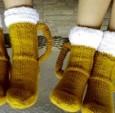 创意针织啤酒杯袜子设计