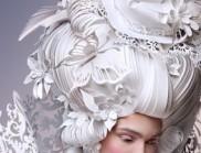 艺术家用纸创作的巴洛克风格假发,太精致了!