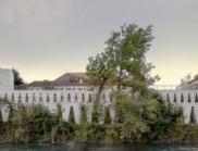 瑞士苏黎世河边的文化中心