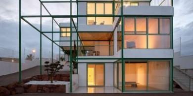 綠色網格建筑|西班牙磚砌拱頂房屋設計