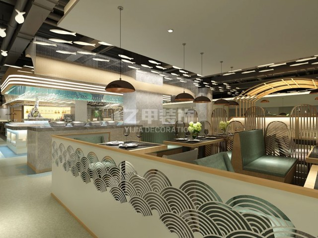成都海鲜餐厅设计 汉丽轩海鲜牛排烤肉自助餐厅设计案例