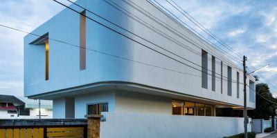 整體彎曲的泰國雙層住宅的相關圖片