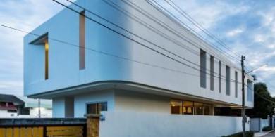 整体弯曲的泰国双层住宅